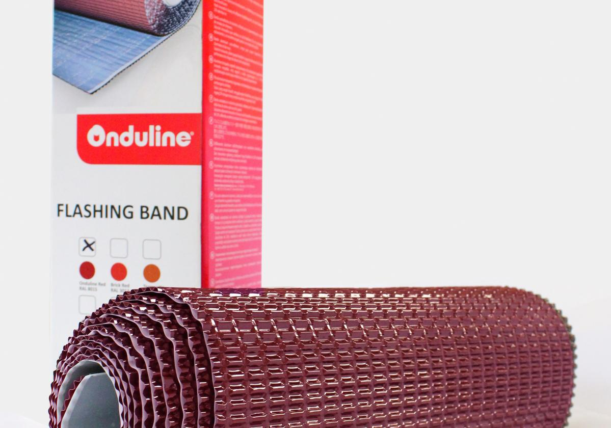 Cinta autoadhesiva FLASHING BAND® color rojo