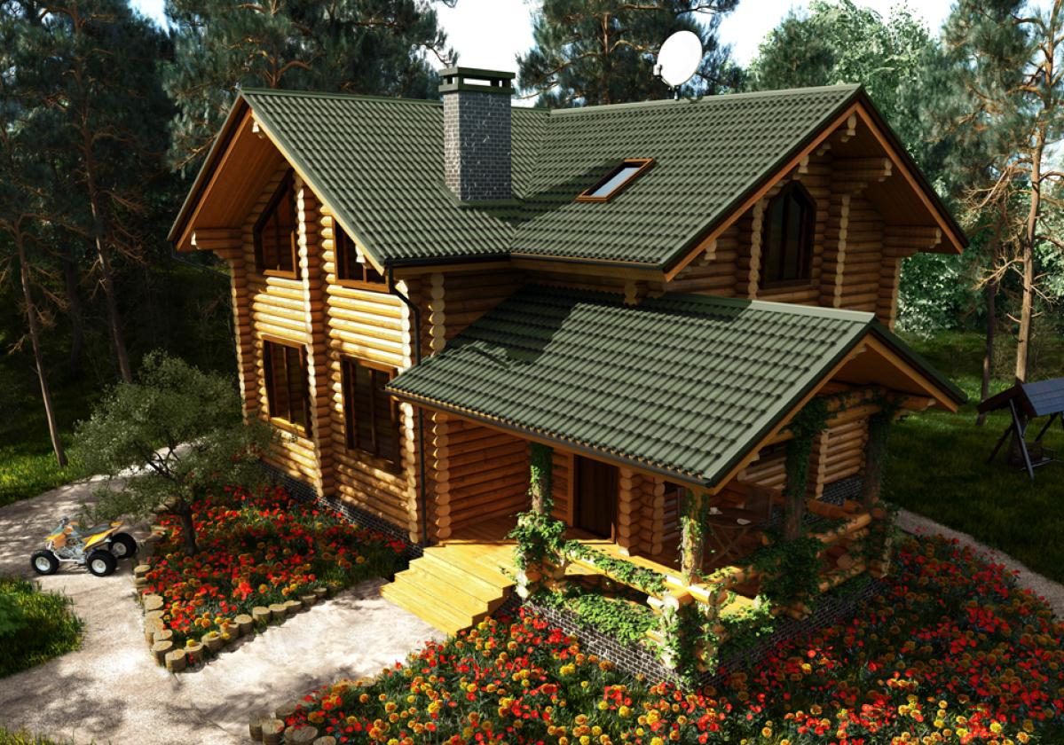 Casa residencial con ONDUVILLA® Verde
