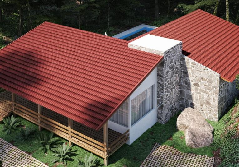 Lámina TILE 3D. La practicidad de las grandes láminas con la belleza de las tejas tradicionales.